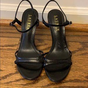 Lauren Ralph Lauren Black Strappy Heel